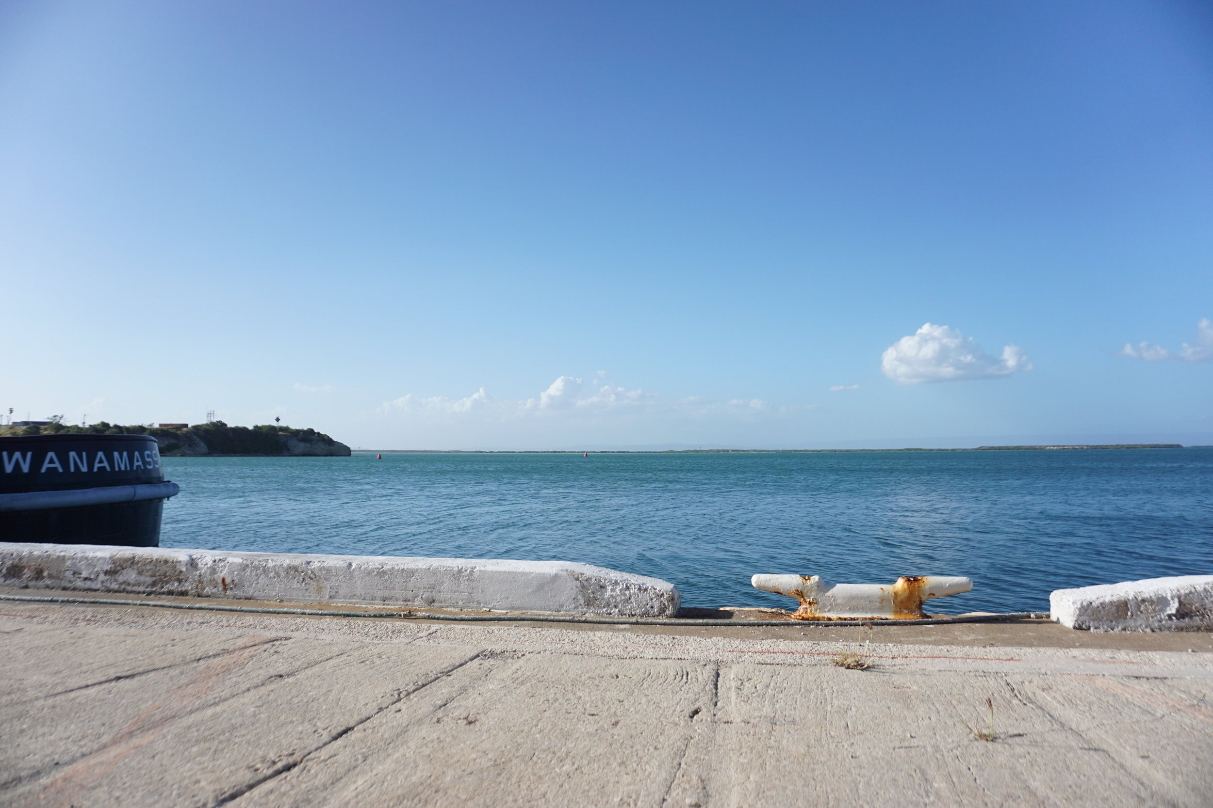 T his is the exact spot my father diesembarked when he left Caimanera to GTMO
