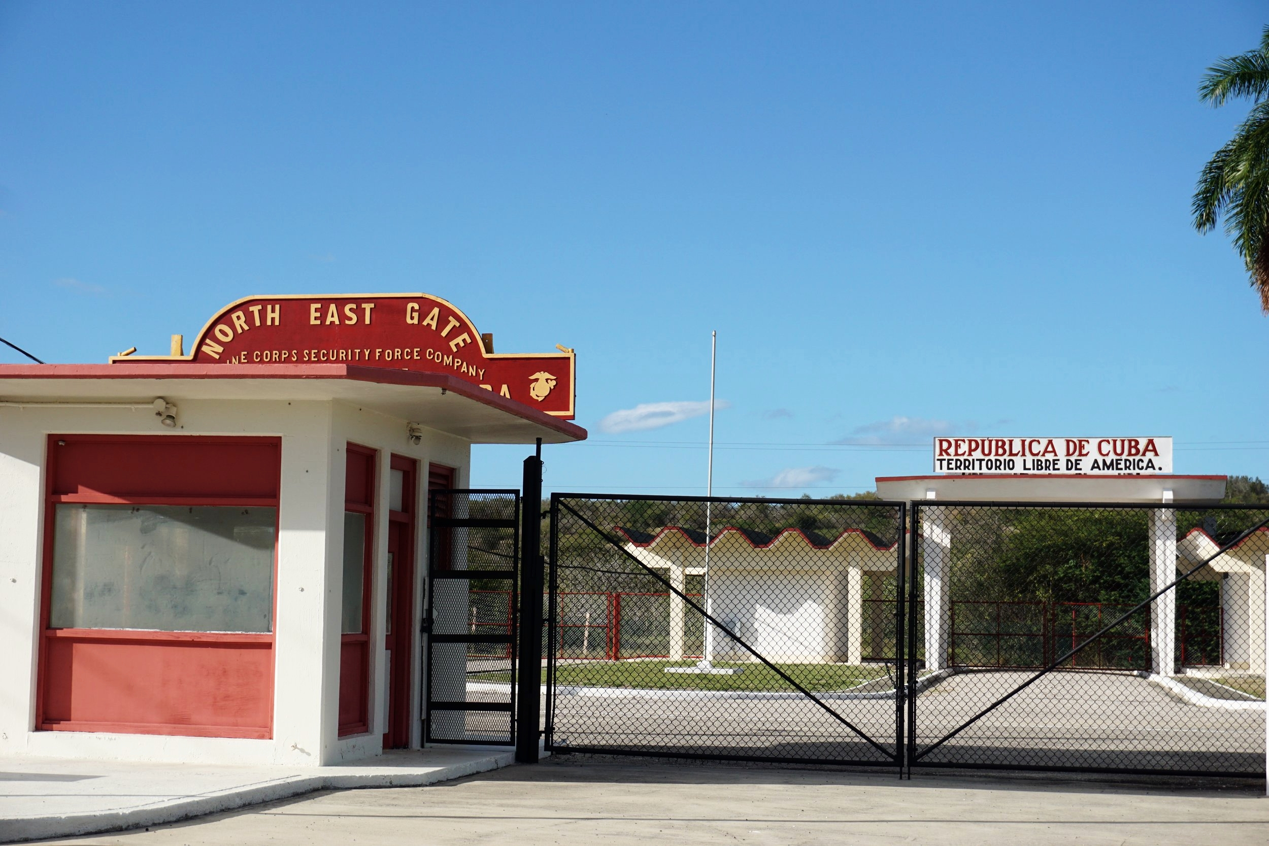 The border between Cuba and U.S territory