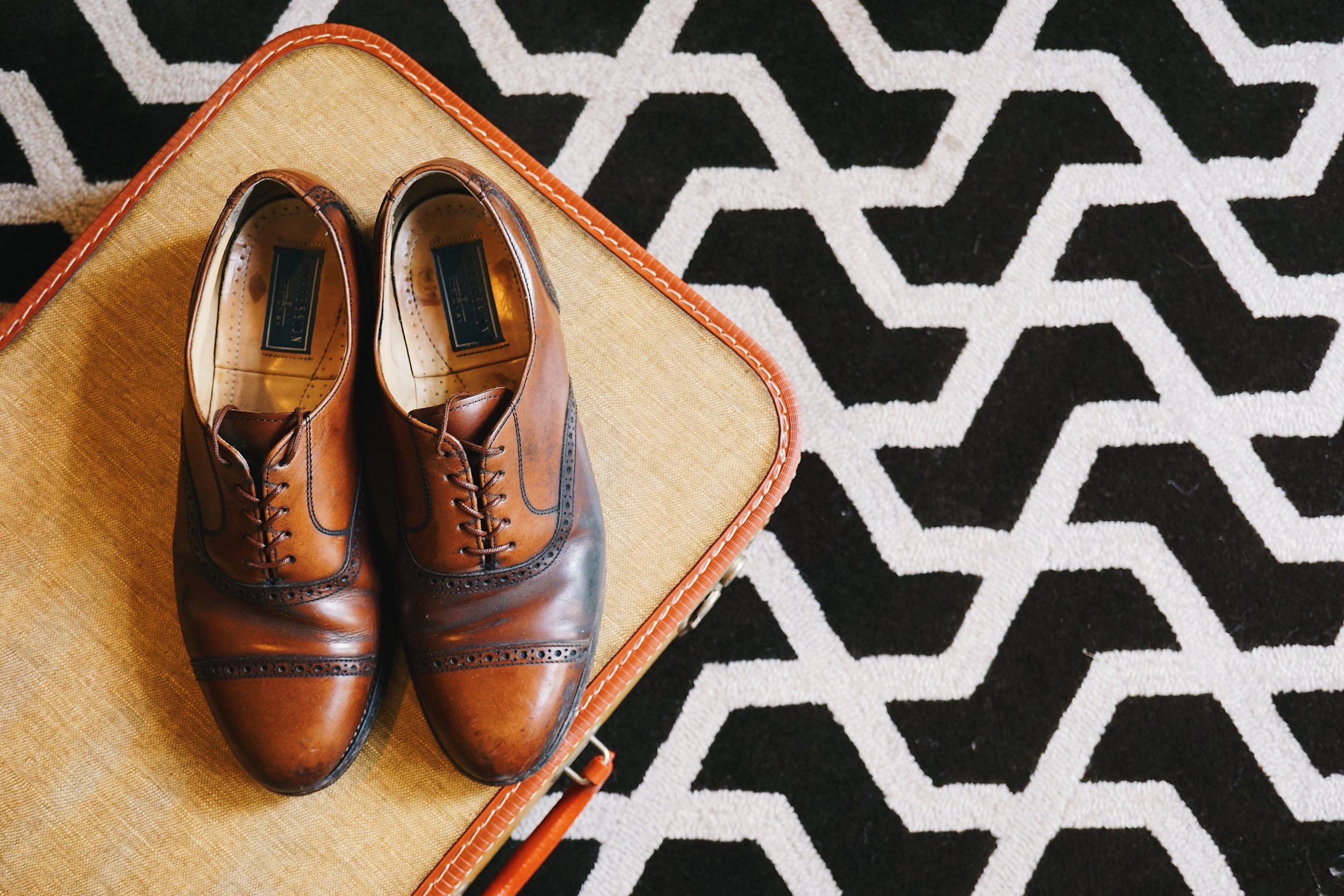 Vintage leather shoes from  Owls Attic.