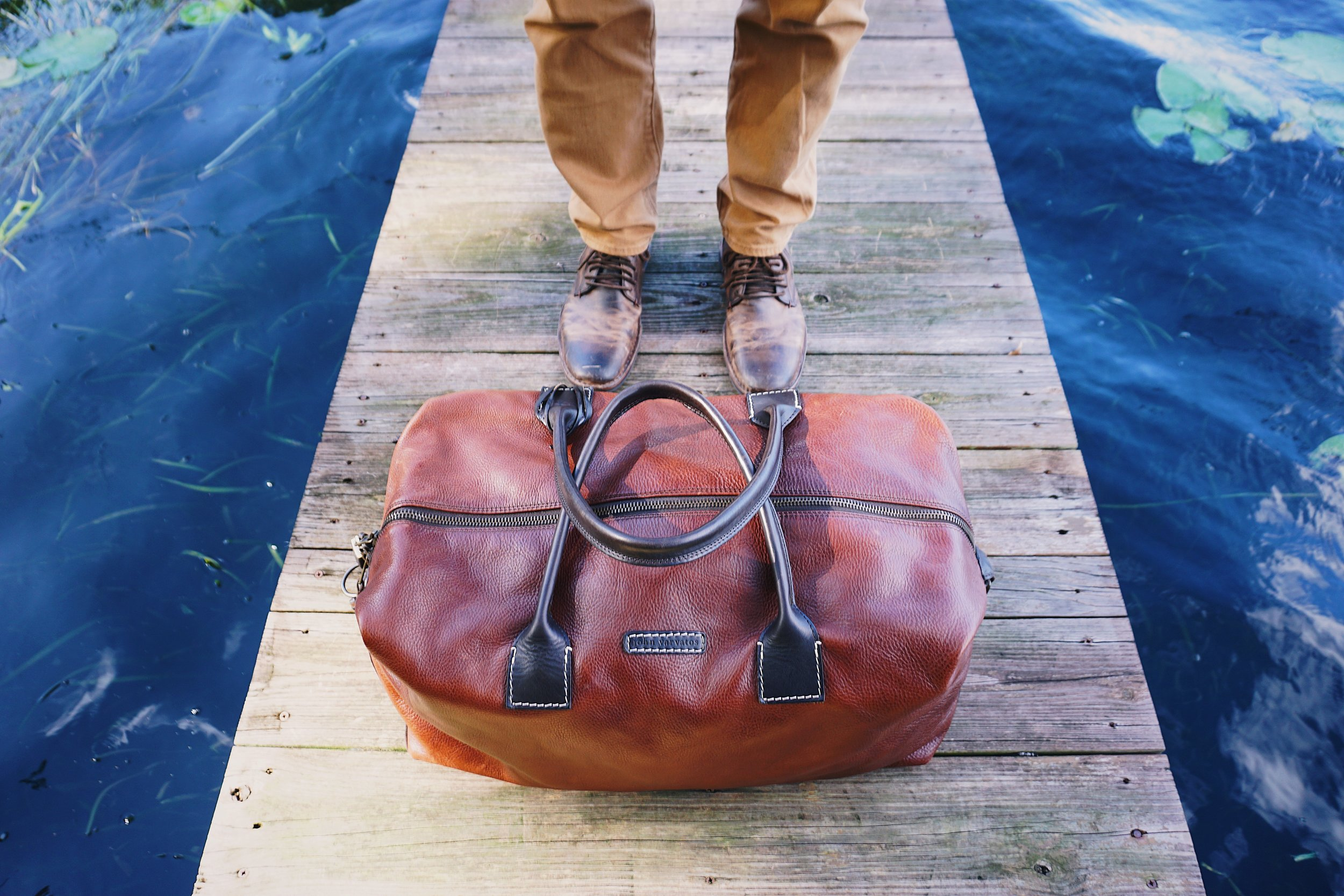 Leather Bag & Shoes by  John Varvatos
