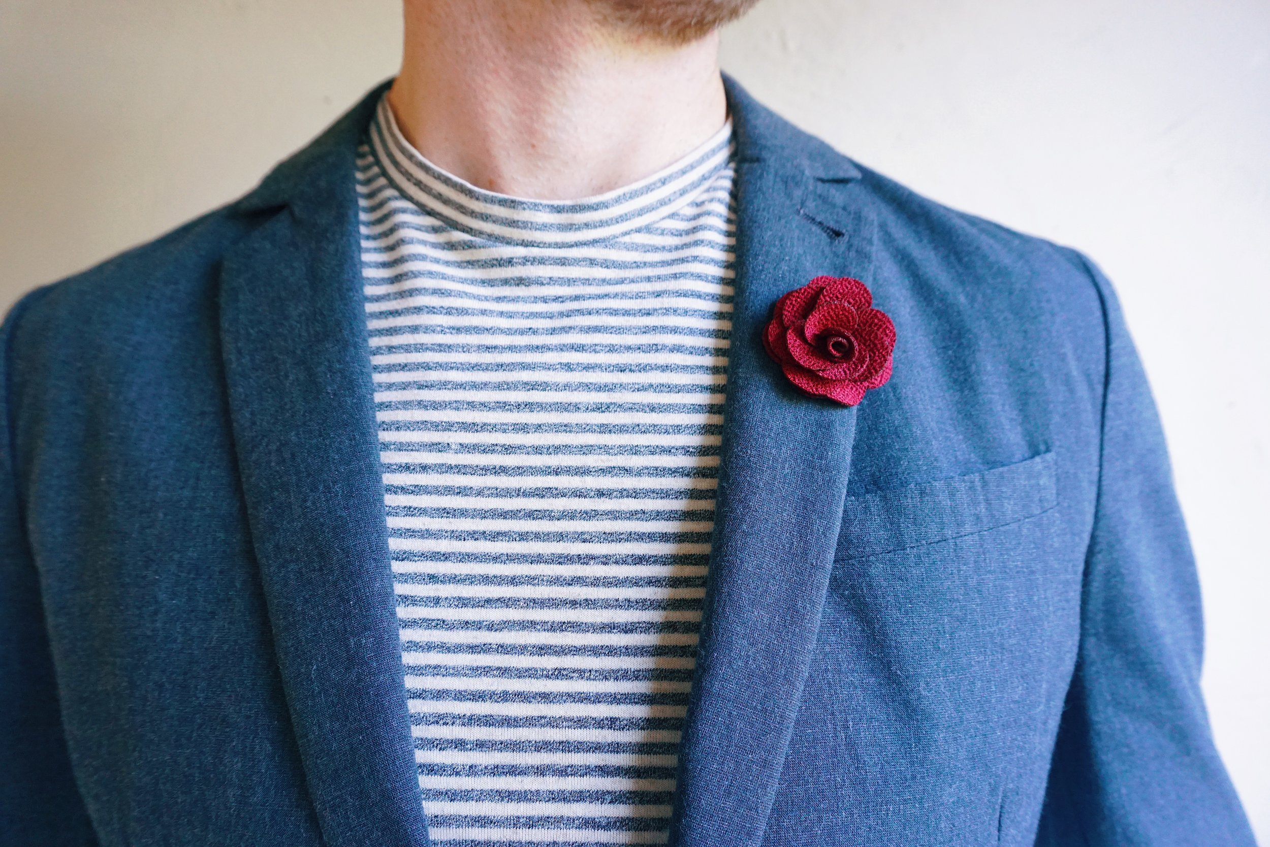 Gentlemen's Lapel Pin & Casual Friday Inspiration