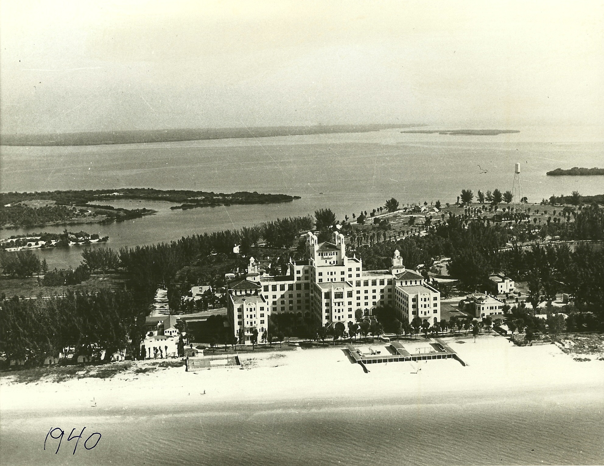 The Don Cesar Hotel in St. Petersburg in 1940