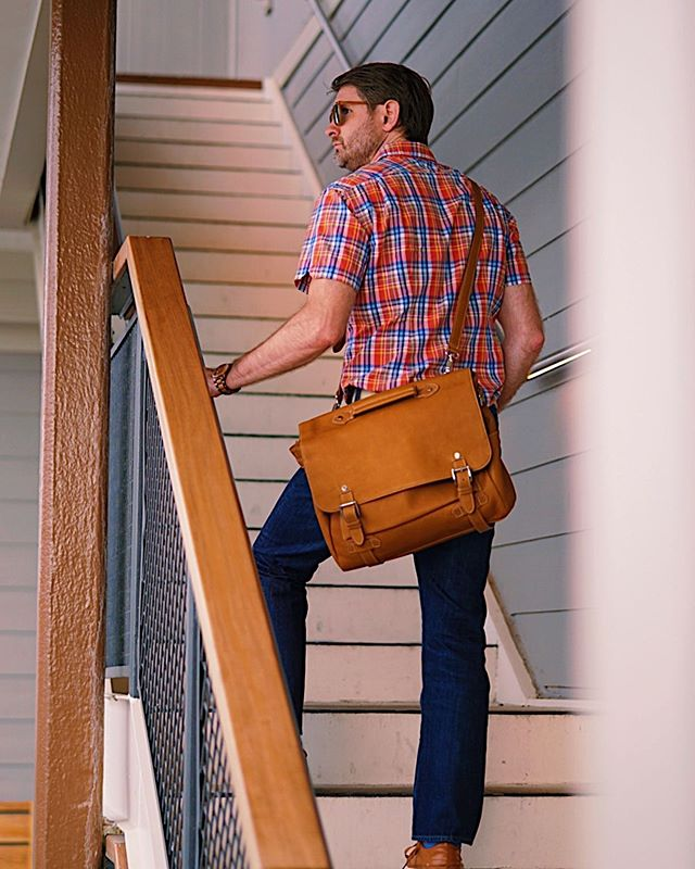 On your way up? You'll need a solid 💼 . **GIVEAWAY TIME** . We've teamed up with @beckettsimonon (maker of this fantastic leather briefcase as well as shoes, belts and more) to help you elevate! Enter for your chance to win a $500 gift card to grow your leather collection.  Contest runs until June 30th! (Link in our bio)