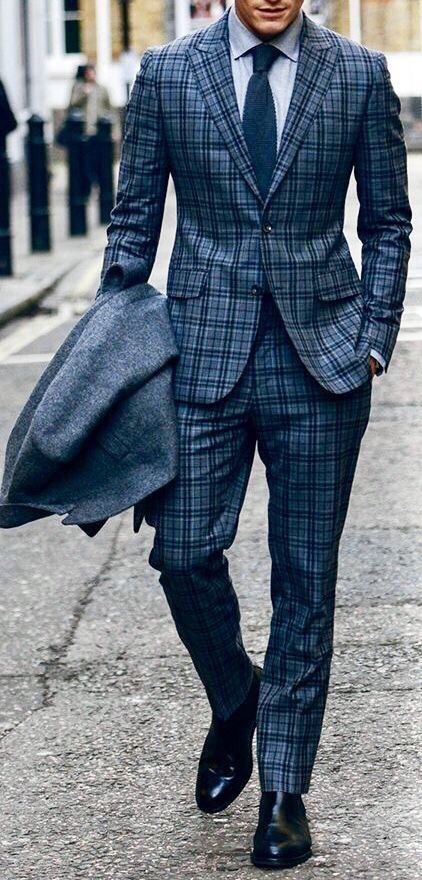 Plaid Suit For Men