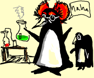 Socially awkward penguin scientist. Source: http://drawception.com/