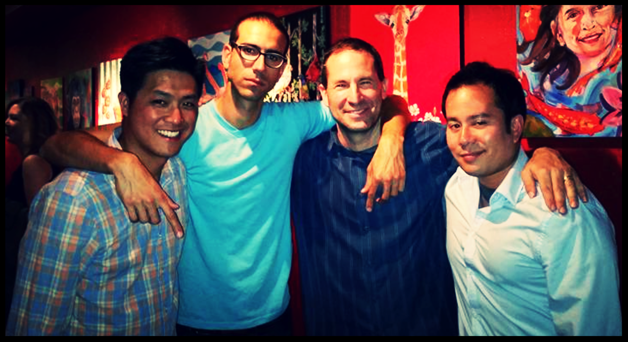 Red Rock Coffee.  Mountain View, CA.  Kevin Wong, Nathan Habib, Jeff Applebaum, and Joe Nguyen.
