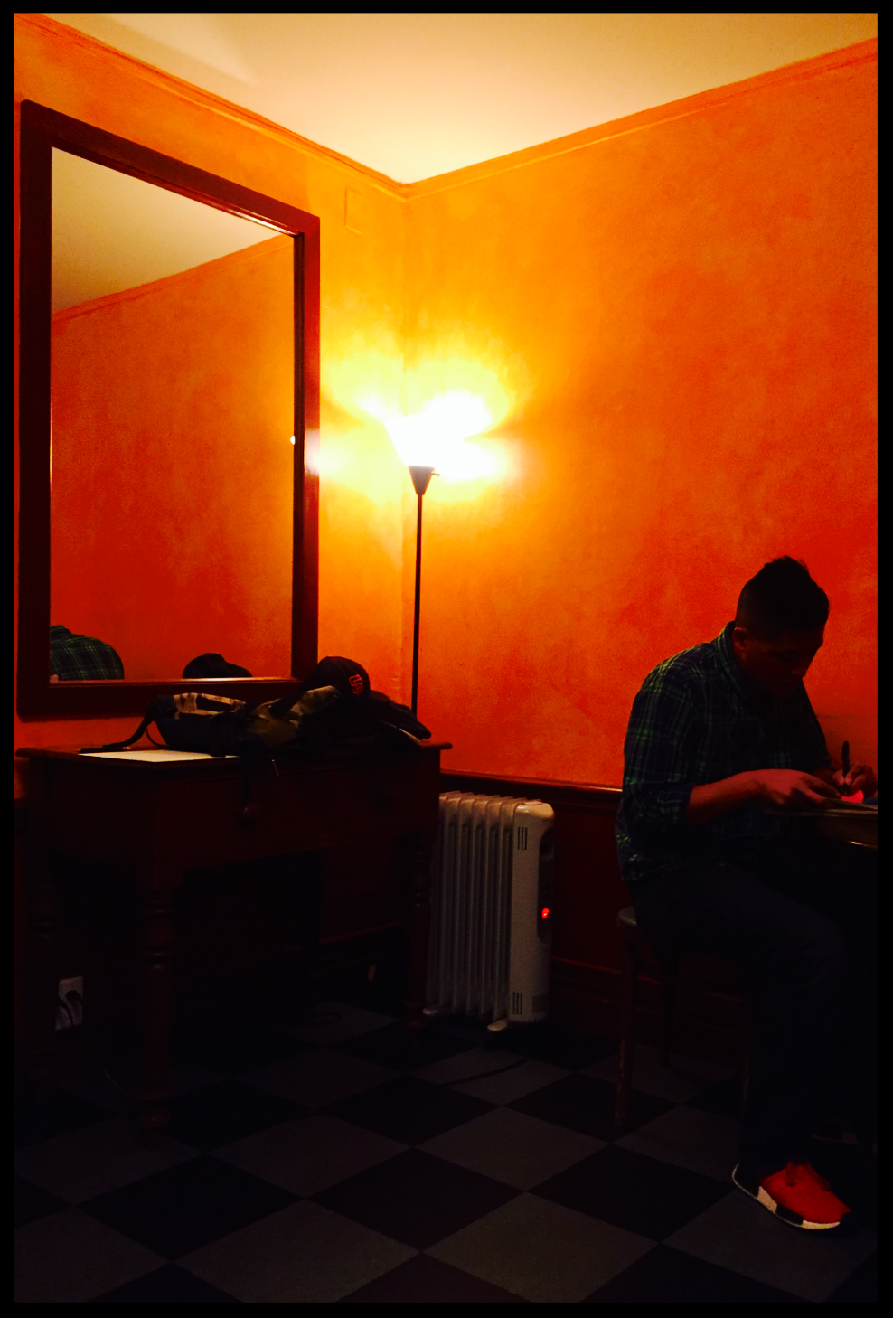Throckmorton Theater.  Mill Valley, CA.  Green room before the show.