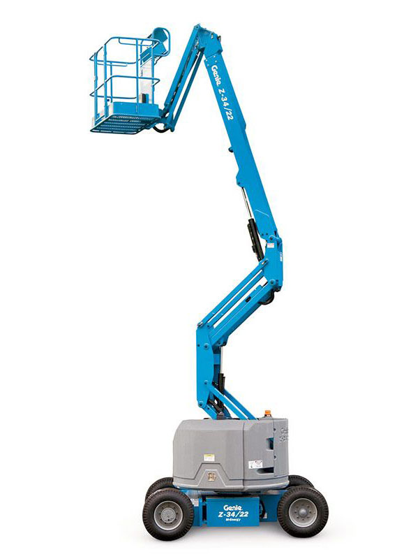Articulating Lift Boom - Take advantage of the unmatched versatility of an articulating lift boom on your job site today!Contact YG Rentals for more details.