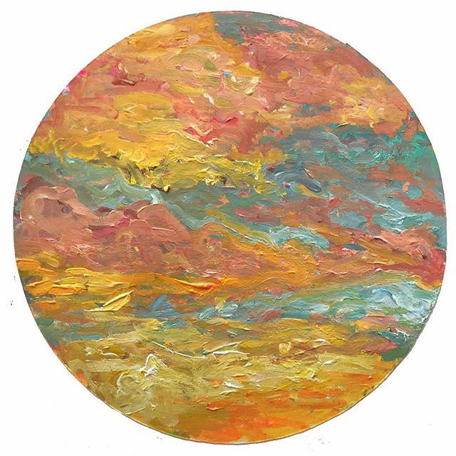 Prepping backgrounds. . . . . . . . #acrylagouache #acrylicpaint #painting #sunrise #sunset #cottoncandysky