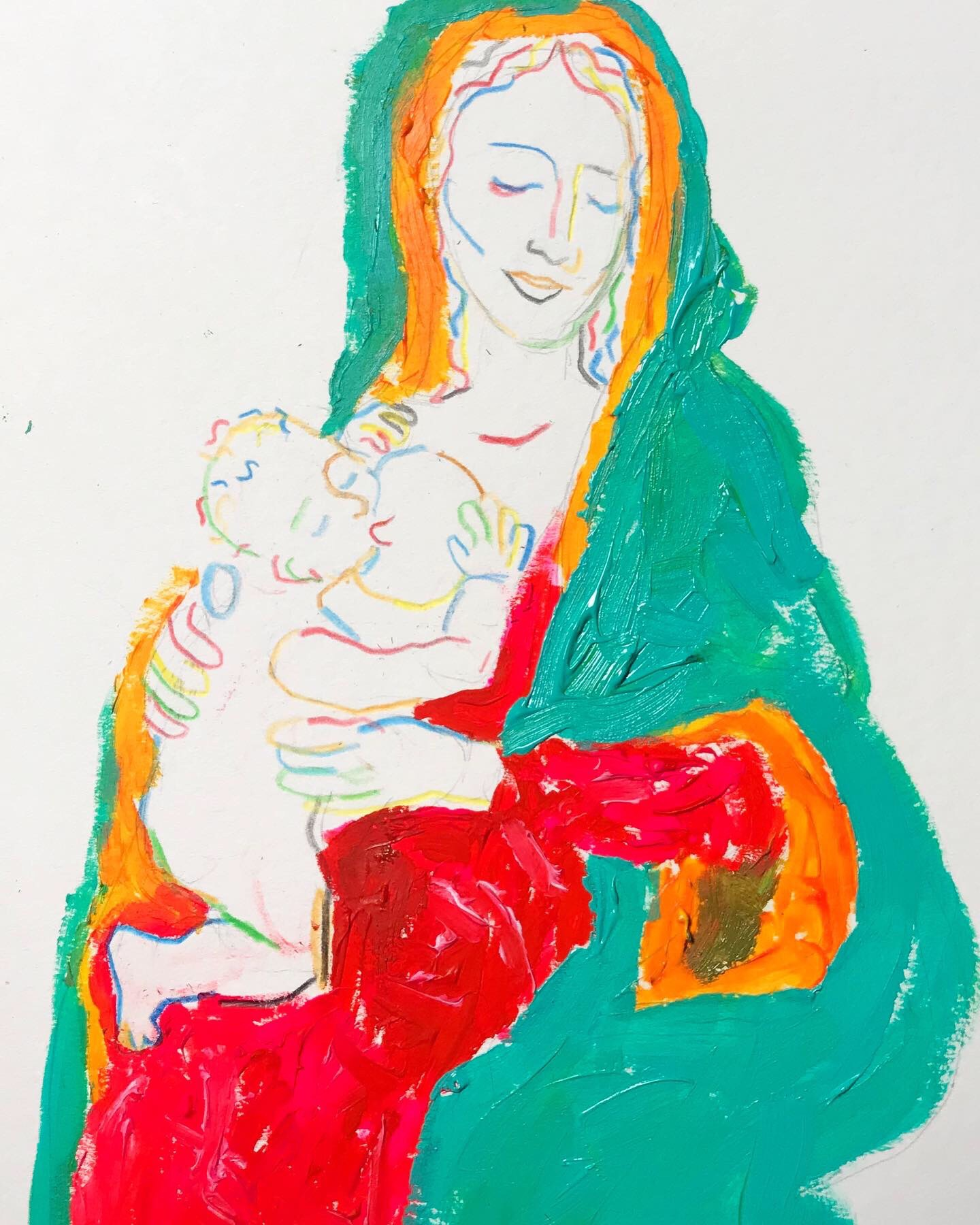 """""""Virgin and Child"""" (2019)"""