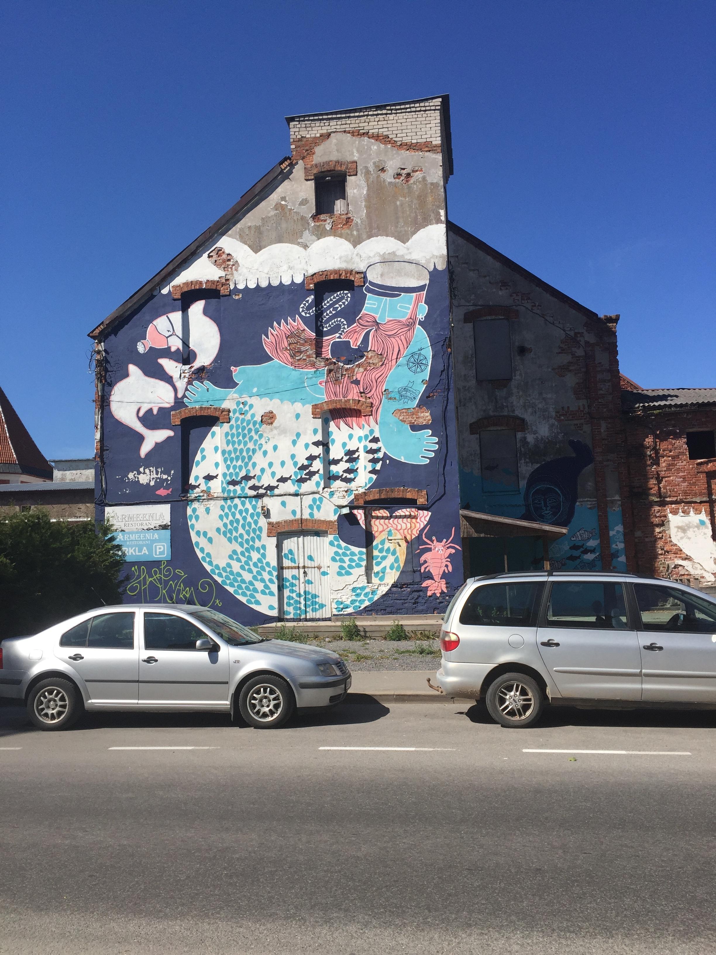 Murals like these were everywhere