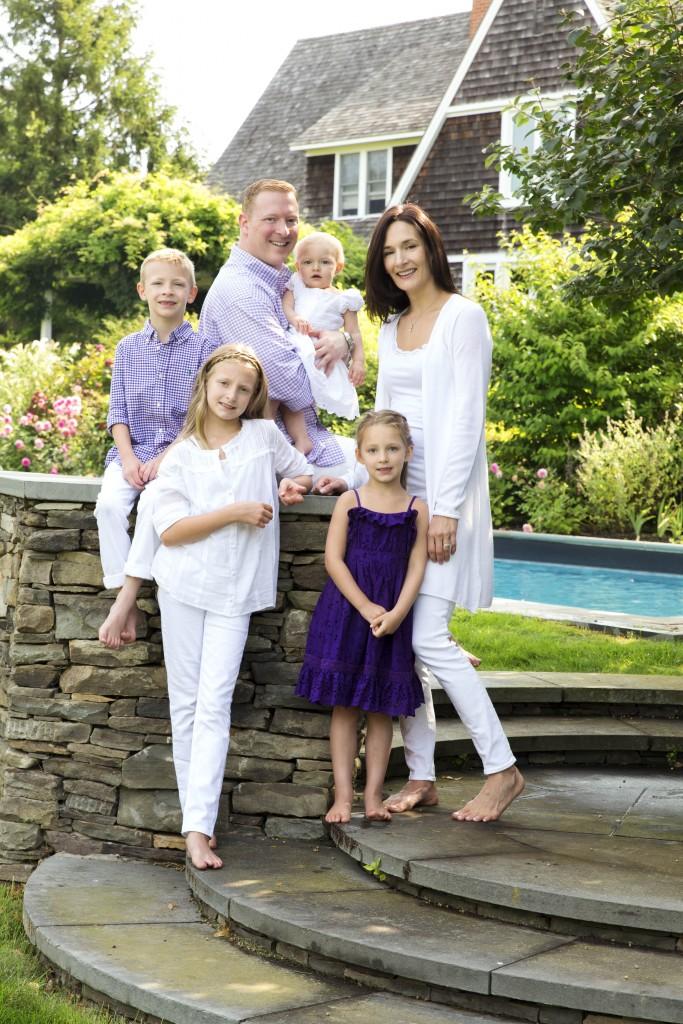 Family portrait in Bridgehampton NY