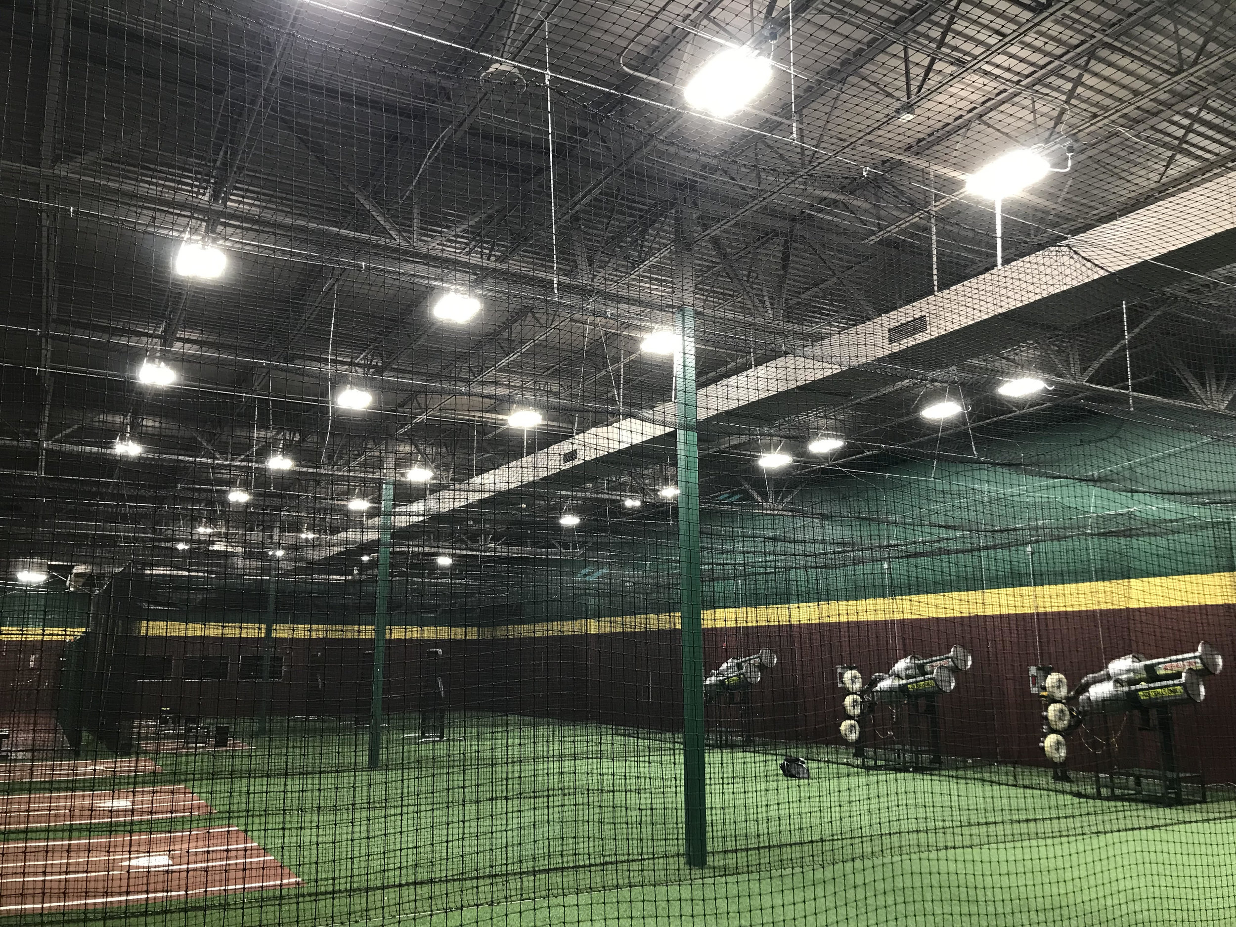 Lication More Than 100 Foot Candles Of Light Throughout The Batting Cage Areas Flex Lighting Solutions High Performance Bay