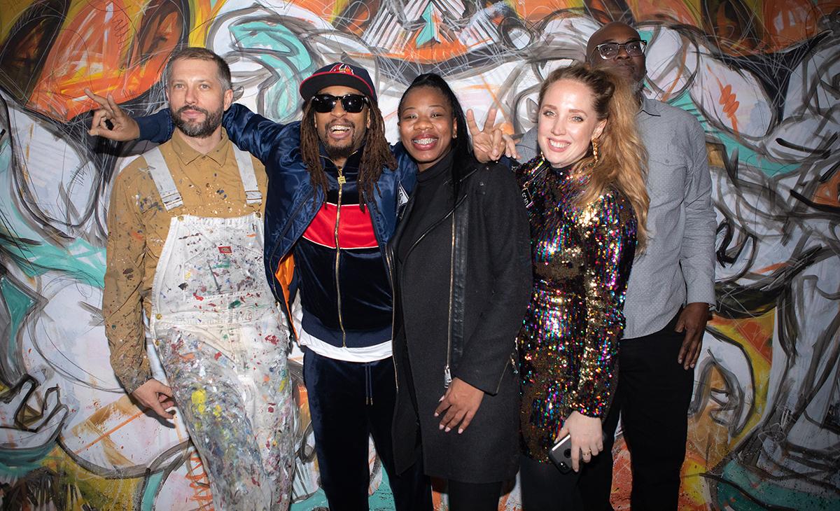 From Left to Right: Matt Hebermehl, Lil Jon, Brittany Brewster, Victoria Gildersleeve, Vince Phiilips Esq.  Photo credit: SCAD