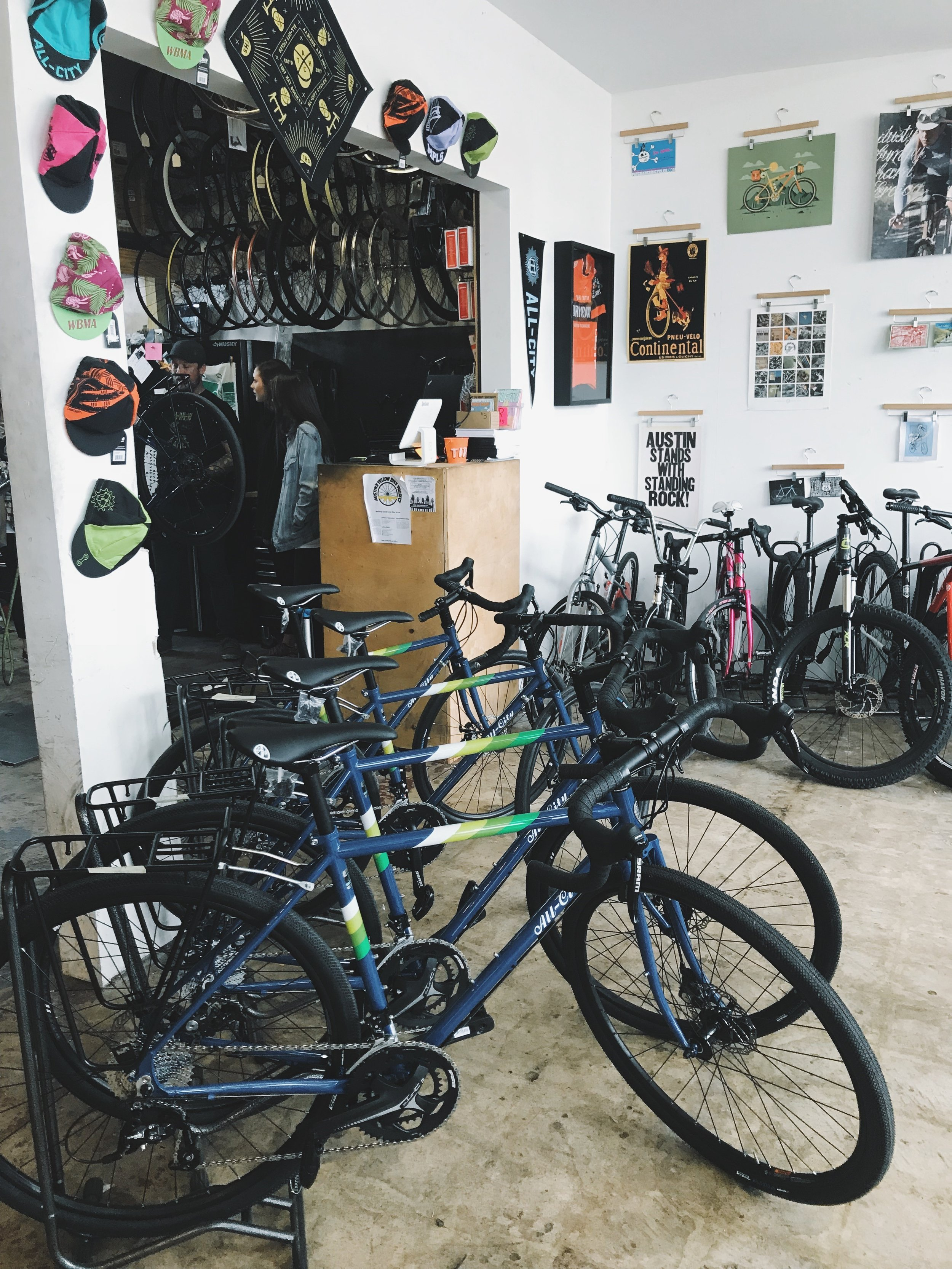 The beautiful team bikes:  All-City Cycles , Space Horse Disks