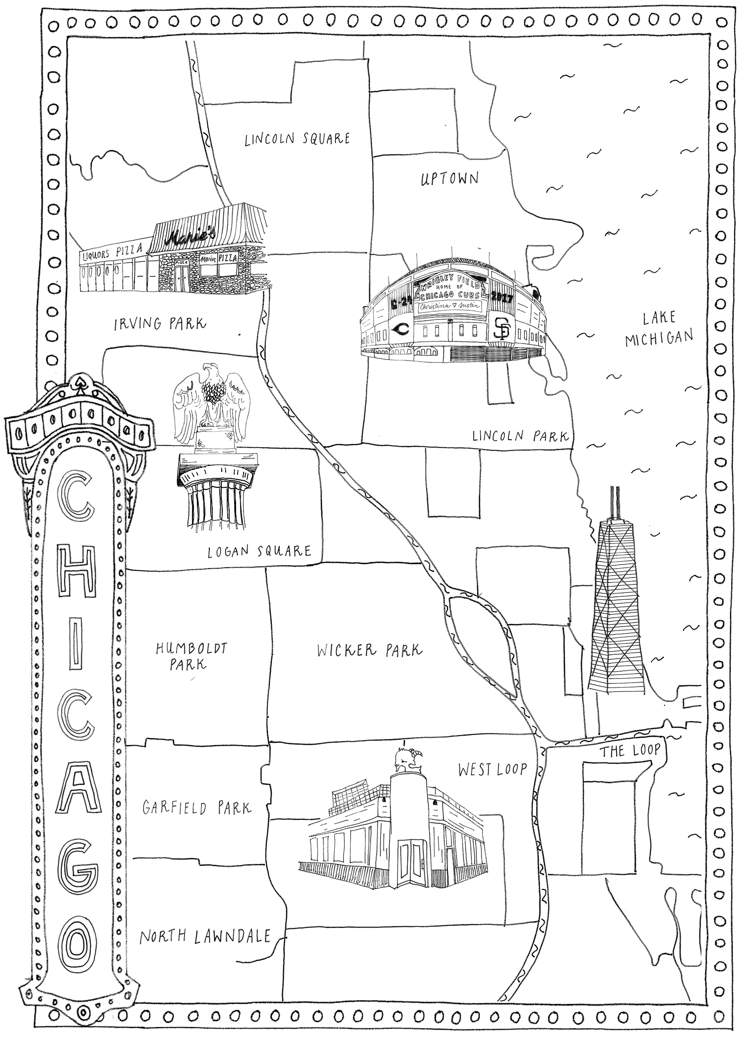 Wedding Map, Chicago