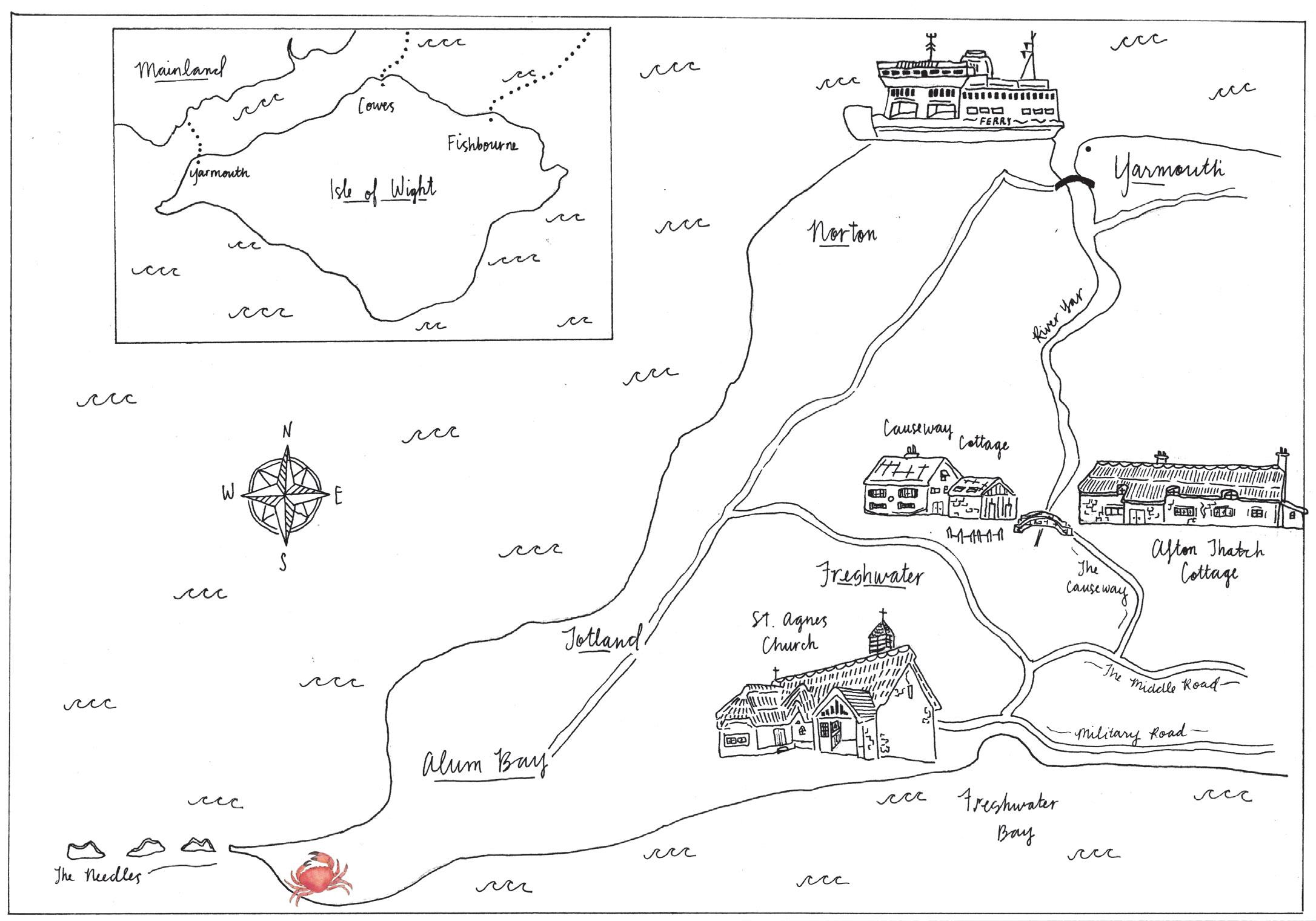 Wedding Map, Isle of Wight