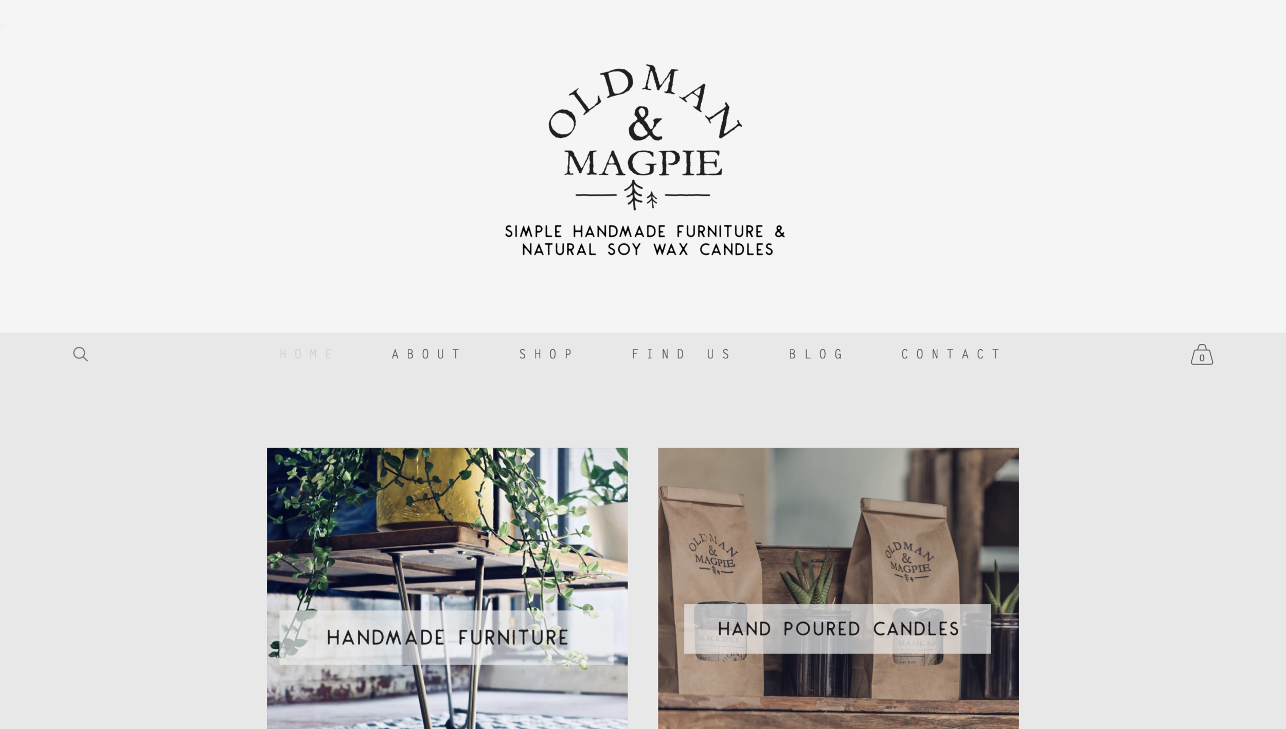 old man and magpie website