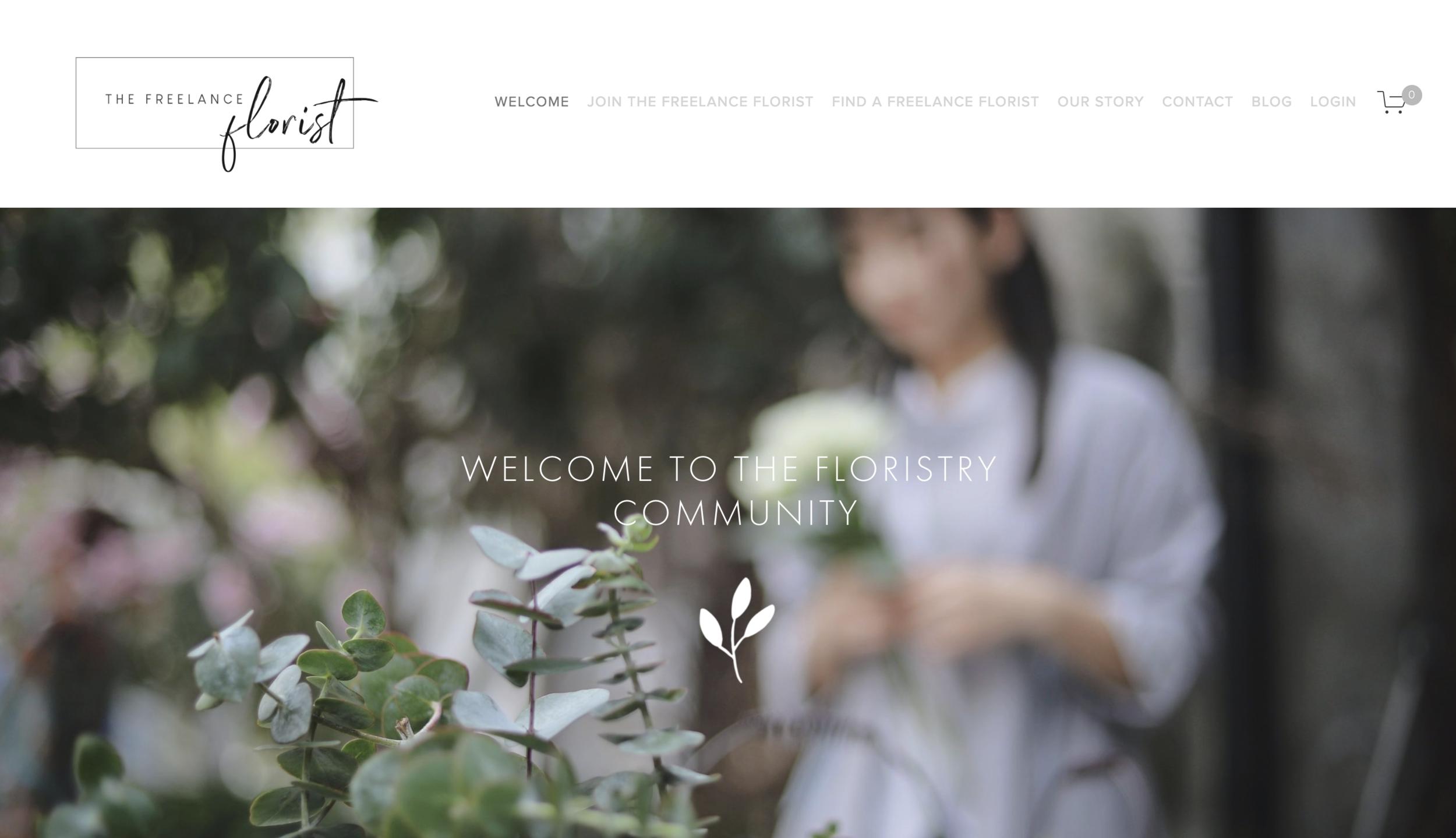 the freelance florist website