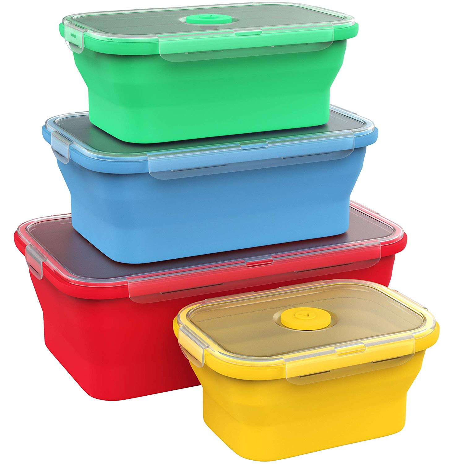 Vremi silicone collapsible containers