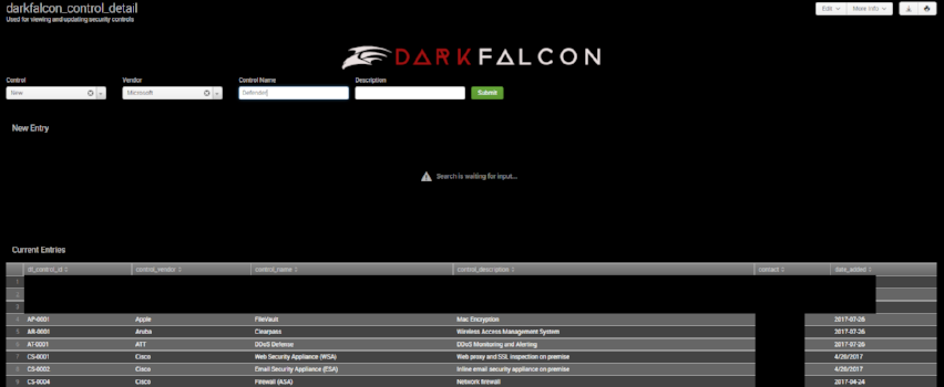 Adding Security Controls within DarkFalcon