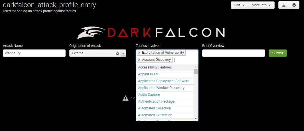 DarkFalcon Attack Profile Entry