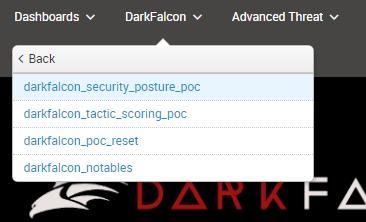 DarkFalcon Proof of Concept Modeling Menu