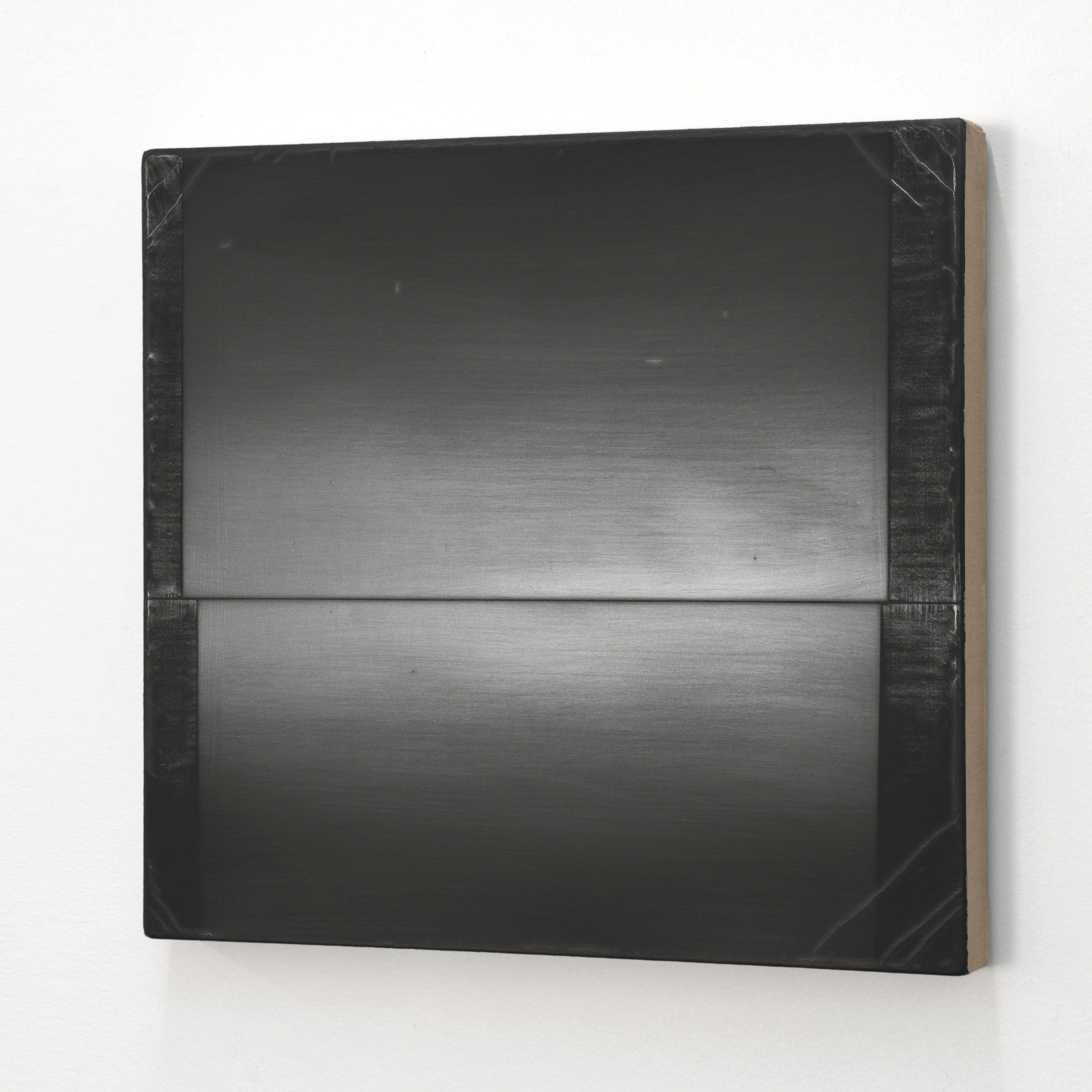Upon  Silverpoint, graphite, and alkyd on linen 15 x 16 inches 38.10 x 40.60 cm 2019