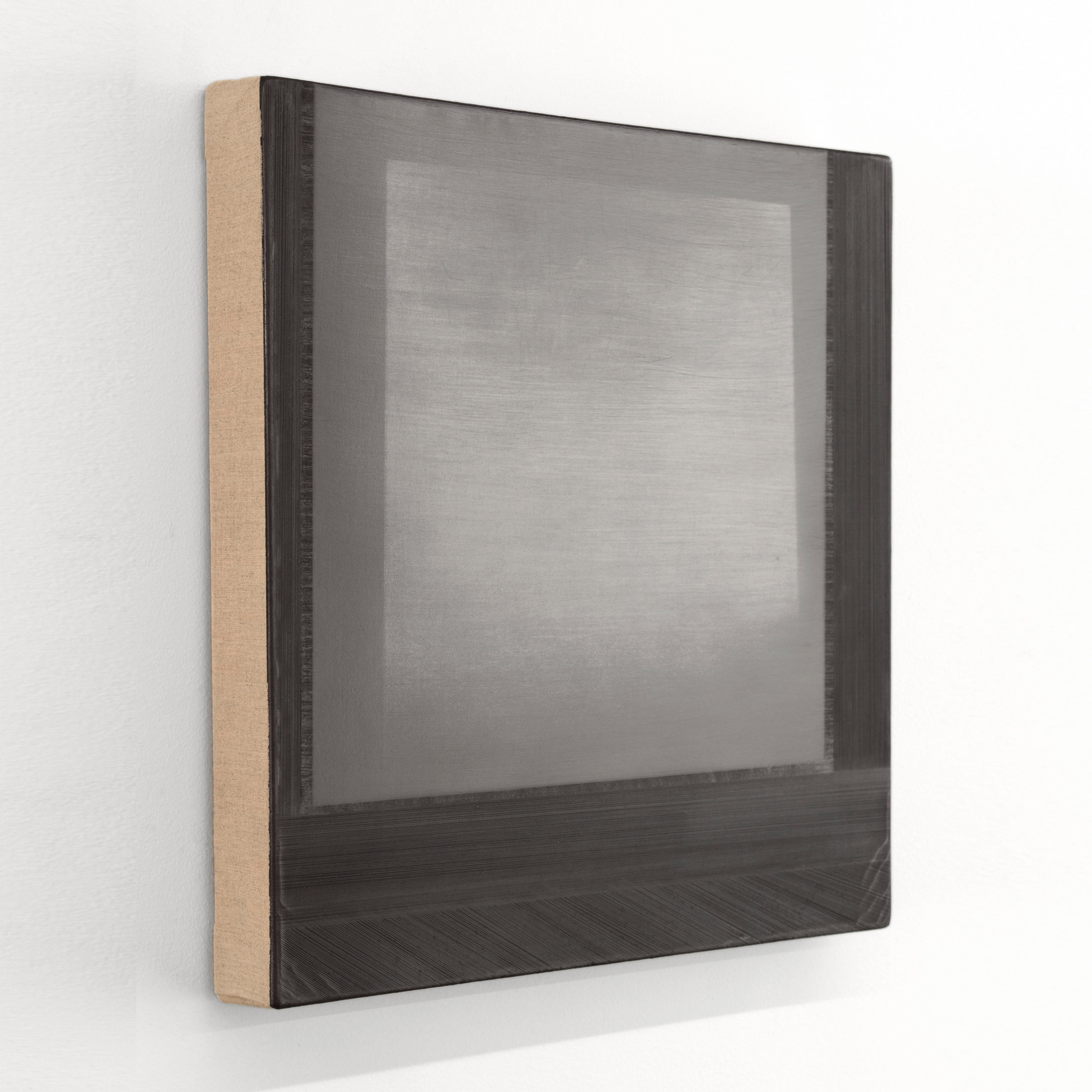 Float  Silverpoint, graphite, and alkyd on linen 15 x 16 inches 38.10 x 40.60 cm 2019