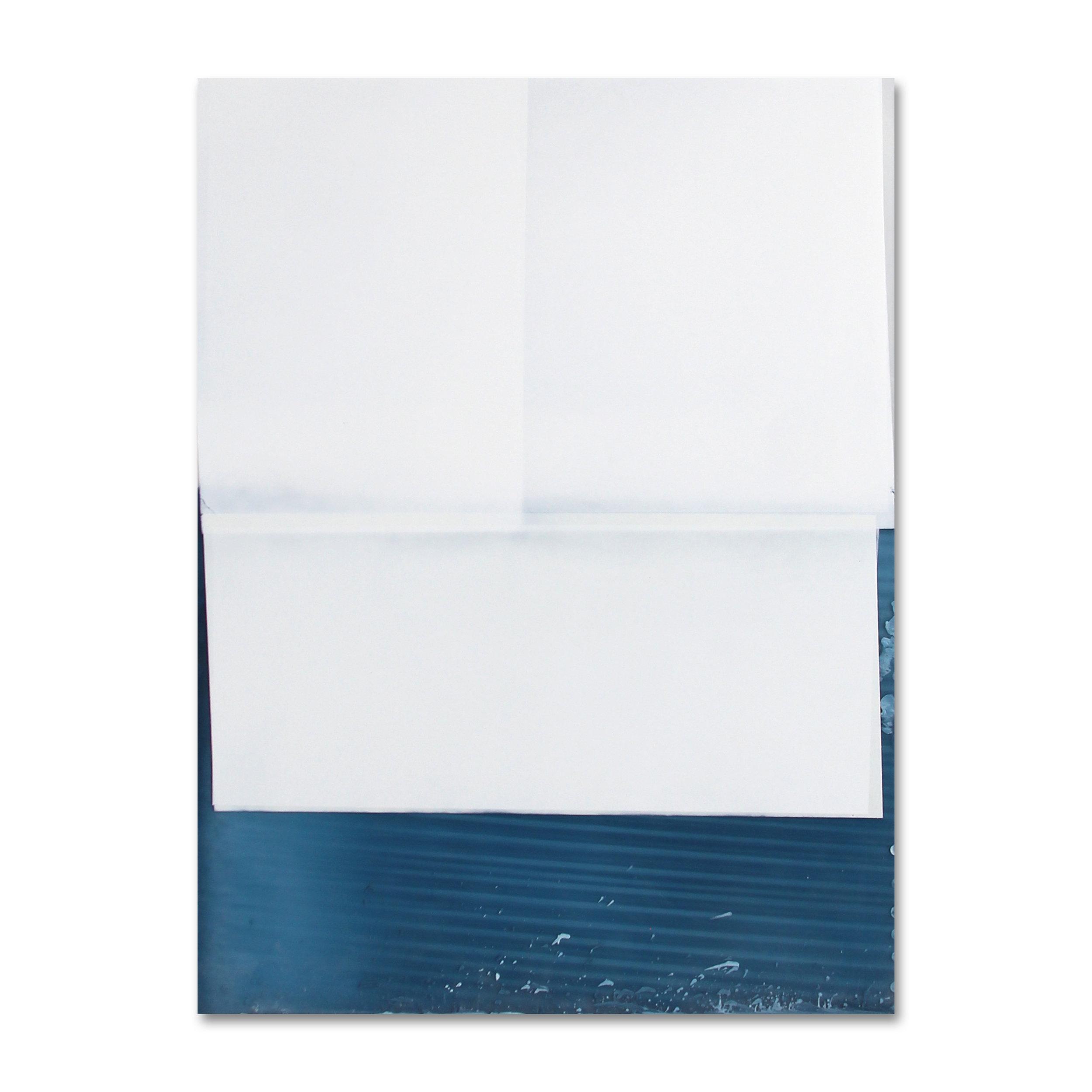 Postcard (Faraway, So Close)  Enamel on acrylic panel 24 x 18 inches 60.96 x 45.72 cm 2018