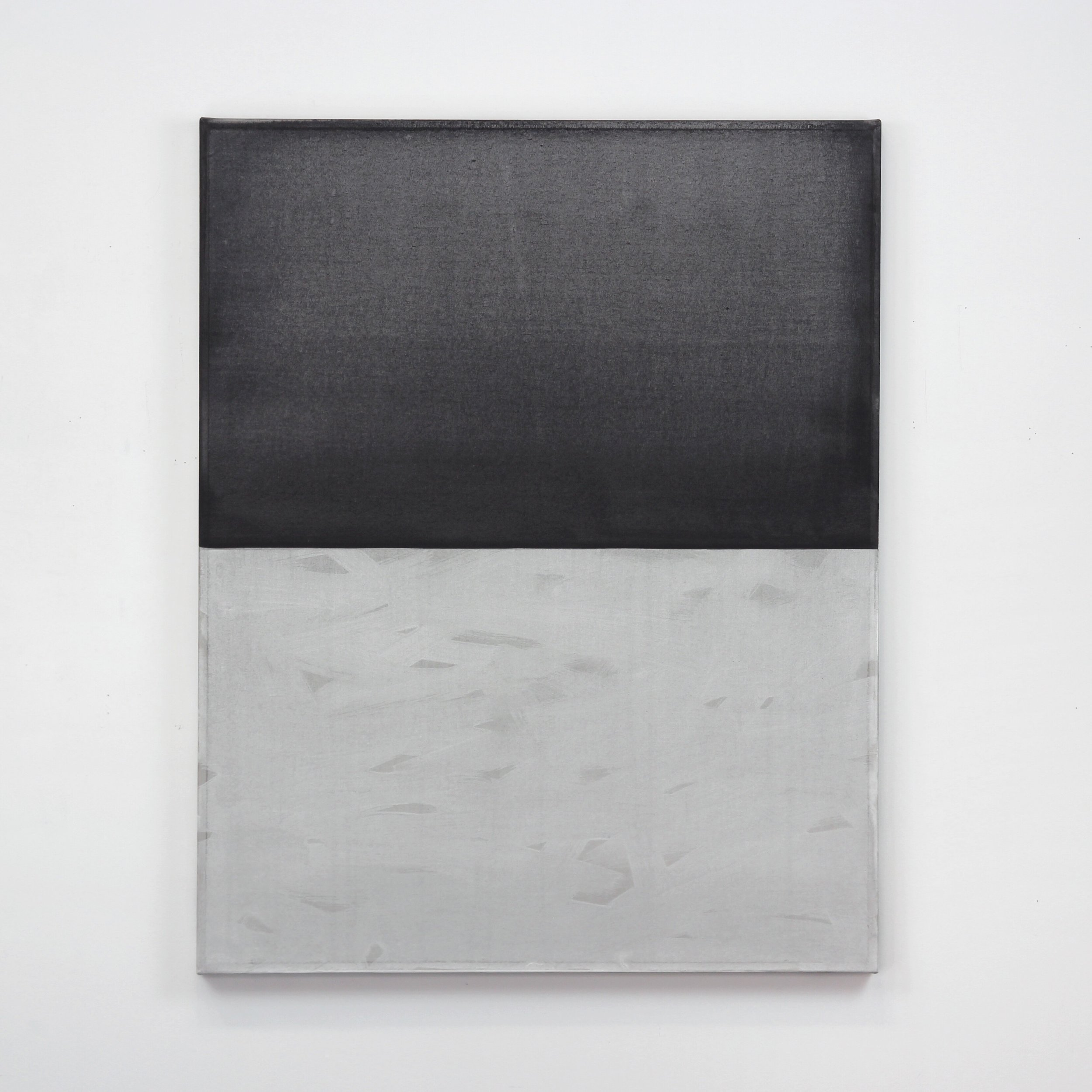 Moon Shadow  Black gesso and acrylic on canvas 35 x 28 inches 88.9 x 71.12 cm 2019