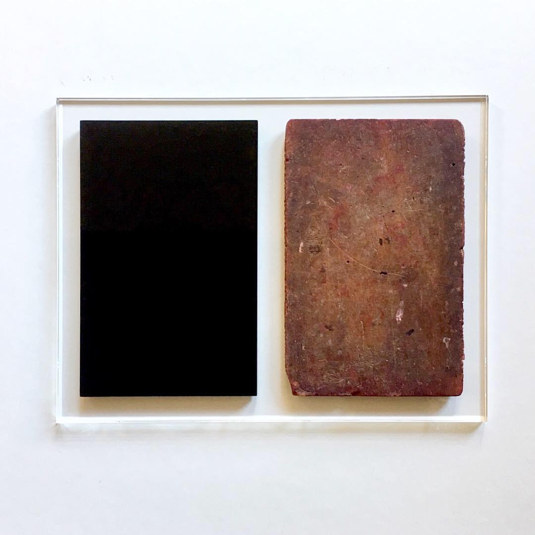 Obscurantism  Wood and black plexiglas on transparent plexiglas  12.40 x 16.14 x .90 inches 31.5 x 41 x 2.3 cm 2018