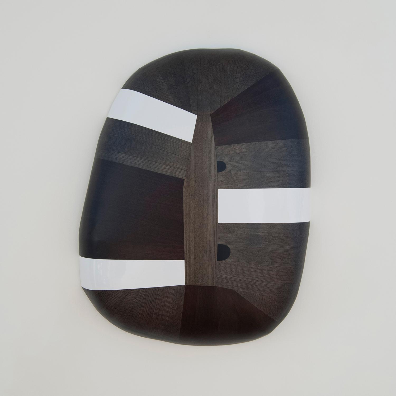 Ponderosa  Wood, stain, paint 24 x 18 x 5 inches 61 x 47 x 13 cm 2018