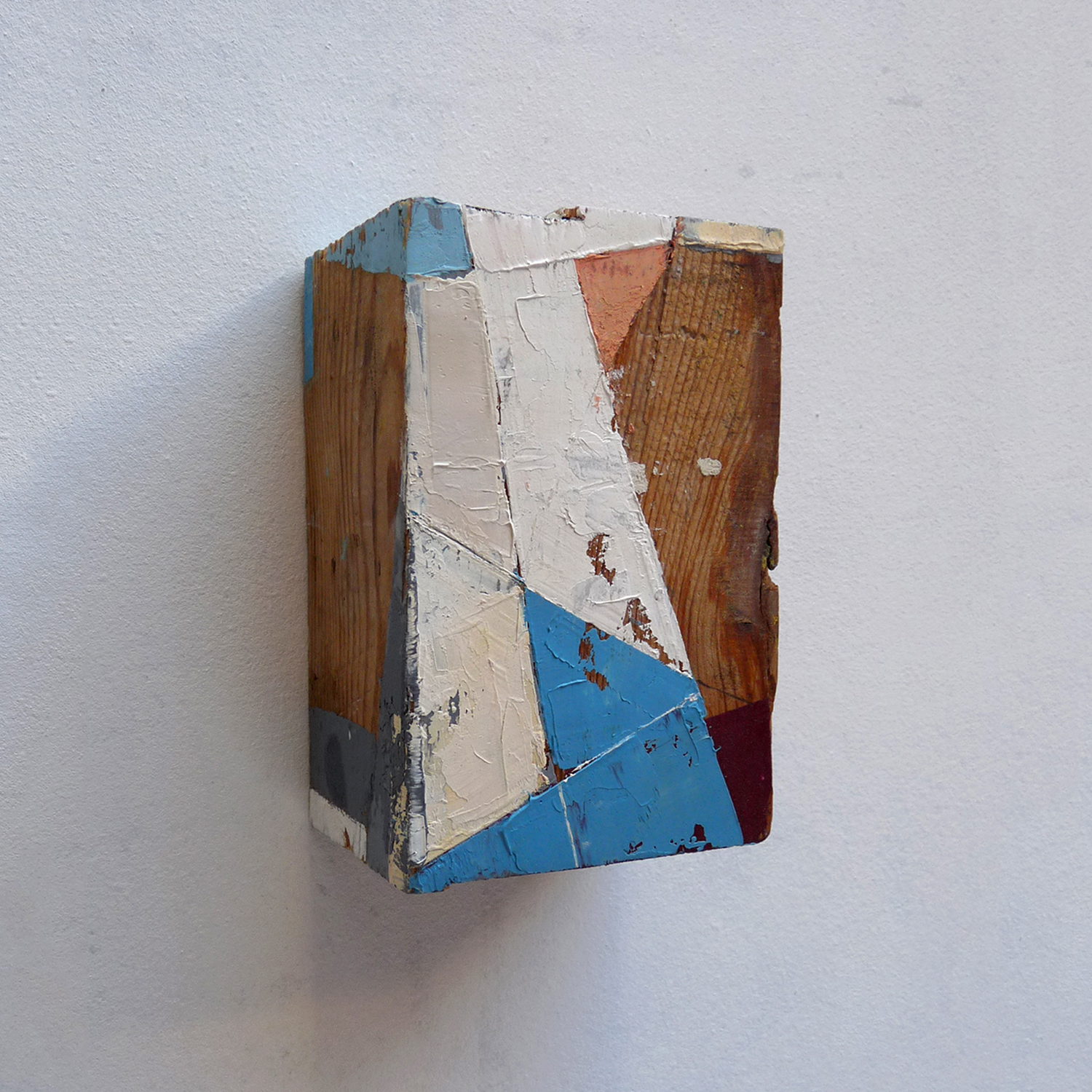 Taquiño D  Oil on wood  4 x 6 x 3 inches 9.5 x 14.5 x 7 cm 2018