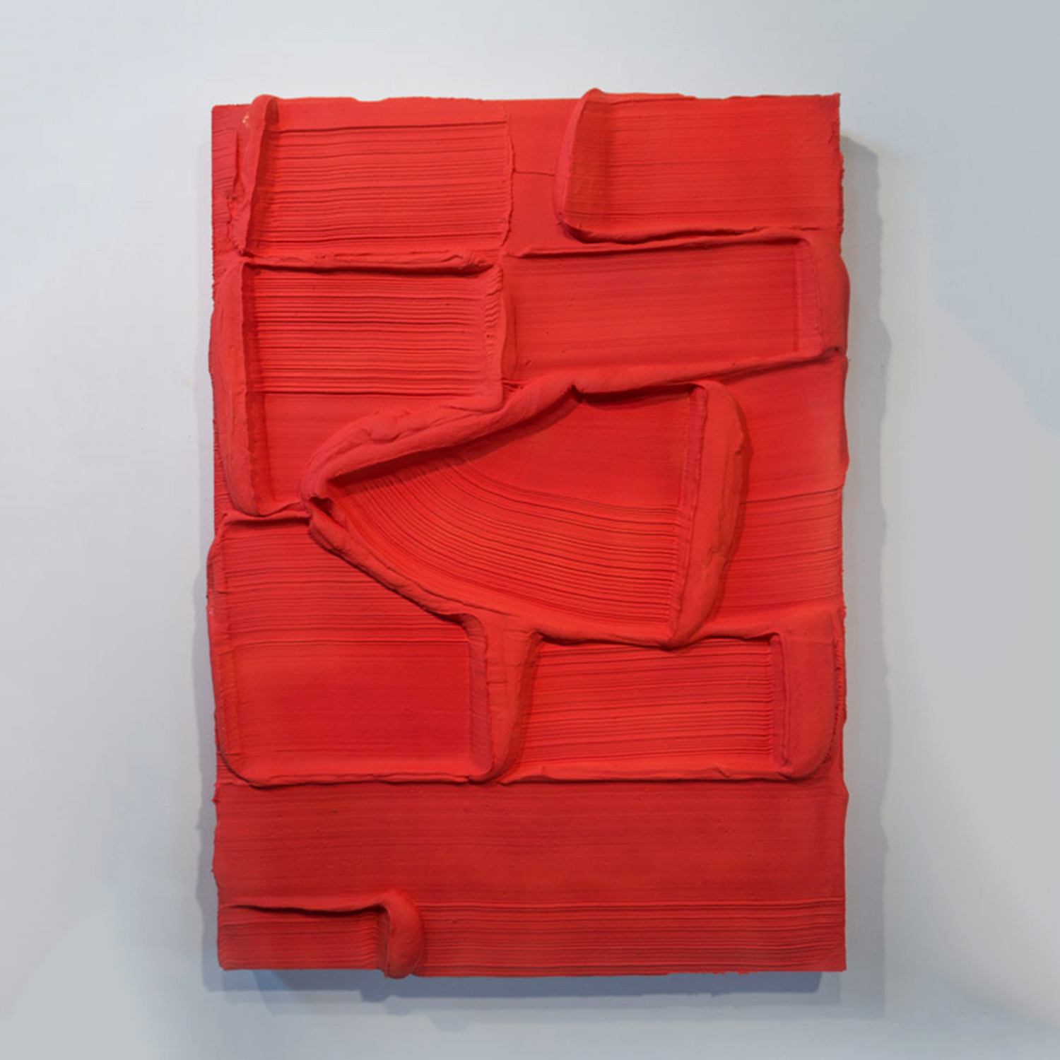 32 Red Earth  Mixed media 40 x 56 x 5.5 inches 102 x 142 x 14 cm  2018
