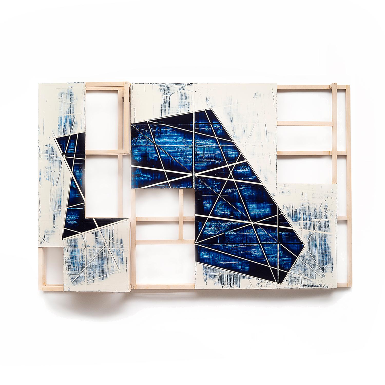 Skin Deep 17-10  Acrylic on birch with basswood framework  36 x 55 x 6 inches  91.5 x 140 x 15 cm 2017