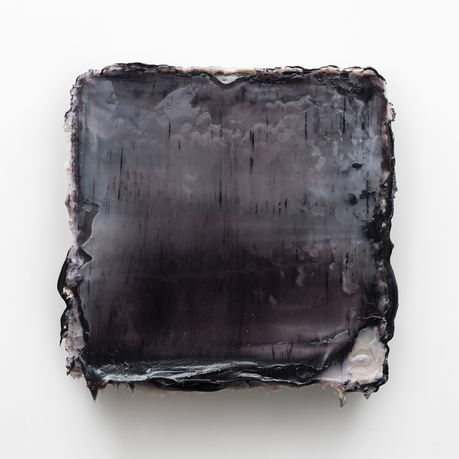 ESIR - Silicone & pigments on wood panel 28 x 27 x 2 inches70 x 69 x 5 cm 2014