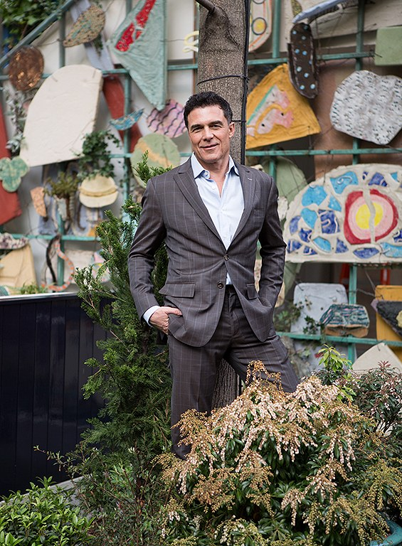 Balazs in the garden at New York's Standard East Village hote