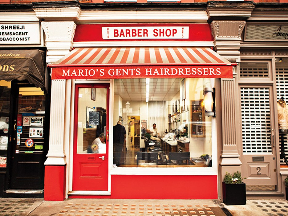 The barbershop on Chiltern Street. Photo by Robert Fairer