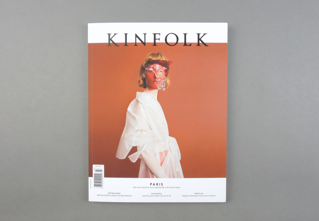 Kinfolk  promotes quality of life and connects a global community of creative professionals from London to Tokyo. Since 2011,  Kinfolk  has become a leading lifestyle authority with a dynamic mix of print and online media, including a quarterly magazine sold in over 100 countries in four languages, daily posts on Kinfolk.com, bestselling books, plus international events and a gallery space in the heart of Copenhagen.  Provenance: Copenhagen. Market price: 30 Euro