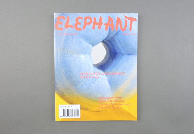 Established in late 2009,  Elephant  is a quarterly magazine on contemporary art and visual culture. Edited by Marc Valli,  Elephant  features up-to-the-minute visual material, fresh faces and original voices, covering and uncovering new trends and talent in contemporary visual culture.  Provenance: London. Market price: 16 Euro