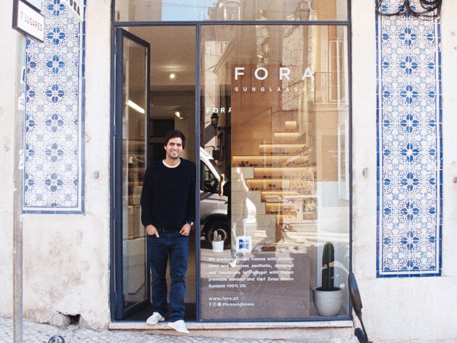 Our original material about FORA - We traveled to Lisbon to talk to Miguel Barral about his story from selling vintage sunglasses in Lisbon to the largest Portuguese eyewear brand.