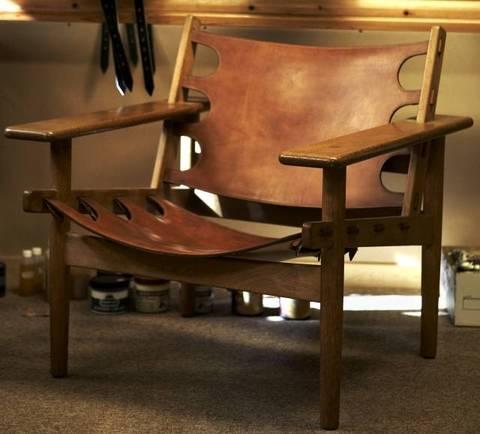 Børge Mogensen's famous hunting chair, circa 1958