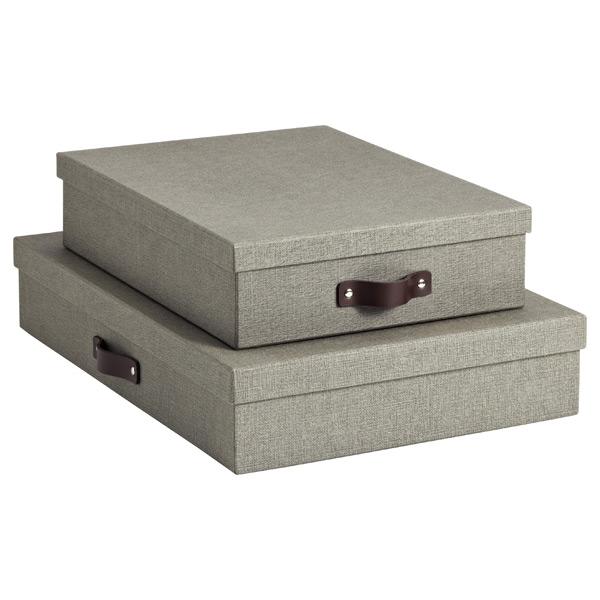 Bigso Marten Grey Office Storage Boxes