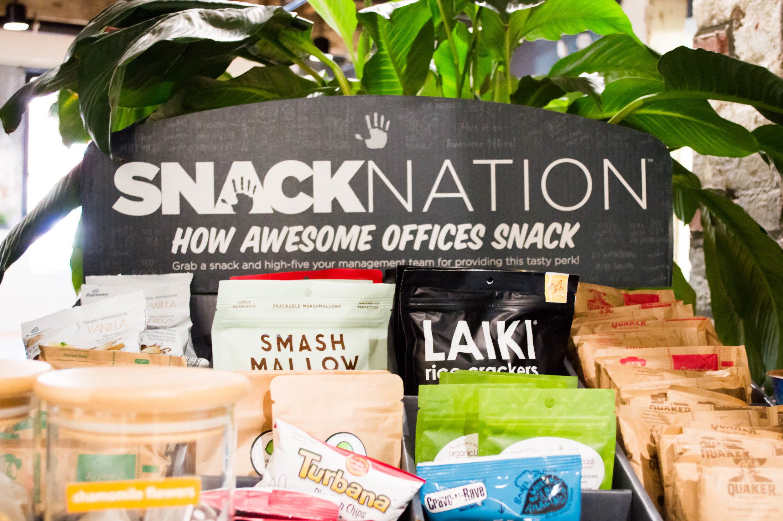 Snack display from Snack Nation