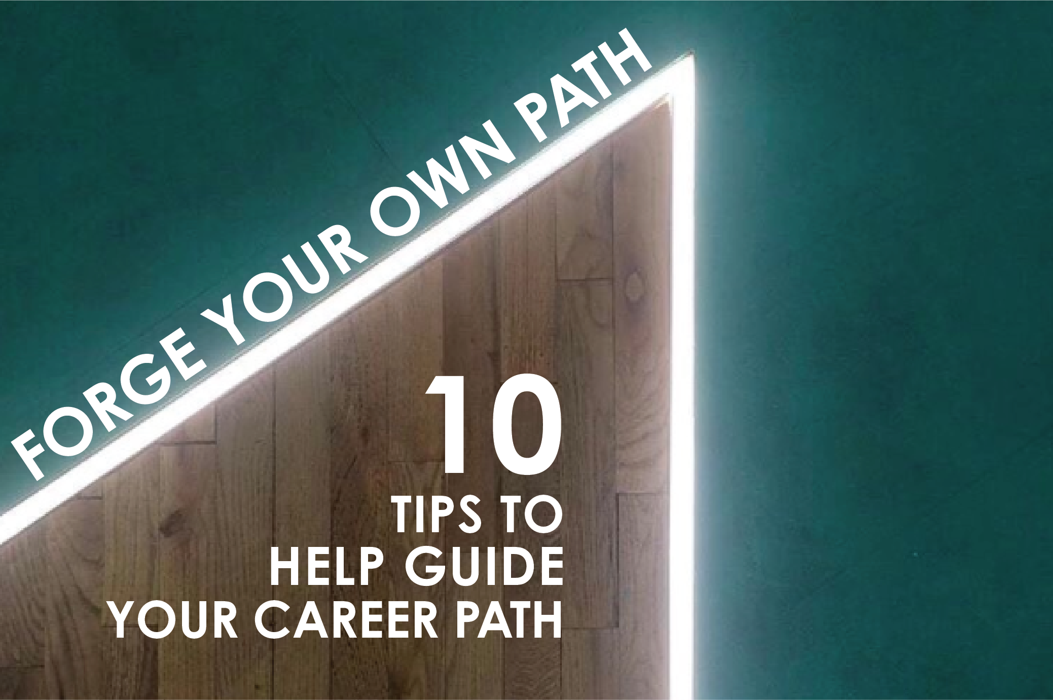Graphic showing the idea of forging your own path