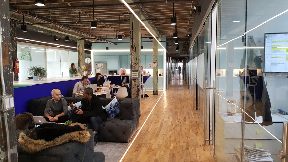 """Though actual """"owned"""" offices may be small, a wealth of shared spaces at Bond Collective create a spacious workspace with lots of choice."""