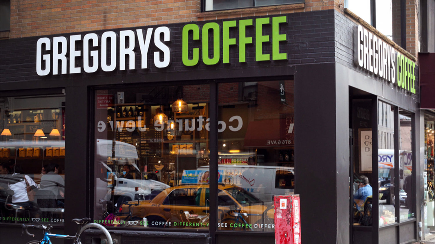 Exterior of Gregorys Coffee shop