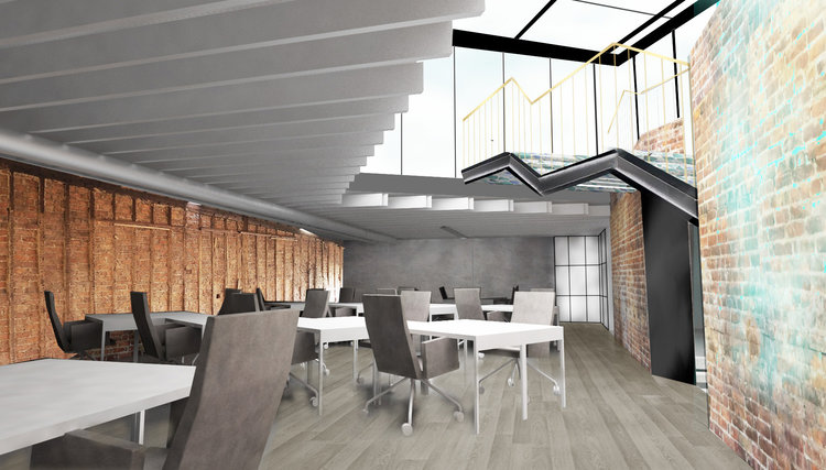 Shared office space for digital nomads