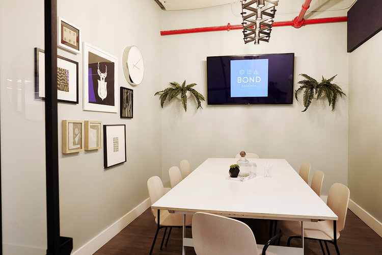 office space with conference-style table